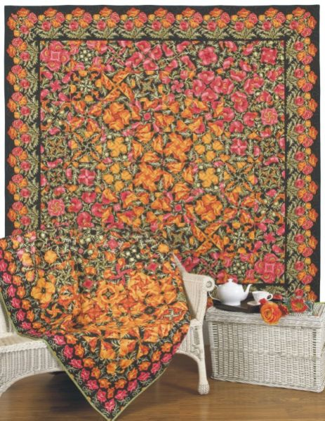 Cover Quilts - Poppies in Paradise (wall); Poppy Fields Forever (chair)